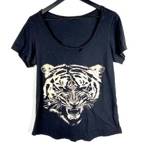 Truly Madly Deeply Tiger Distressed Tee
